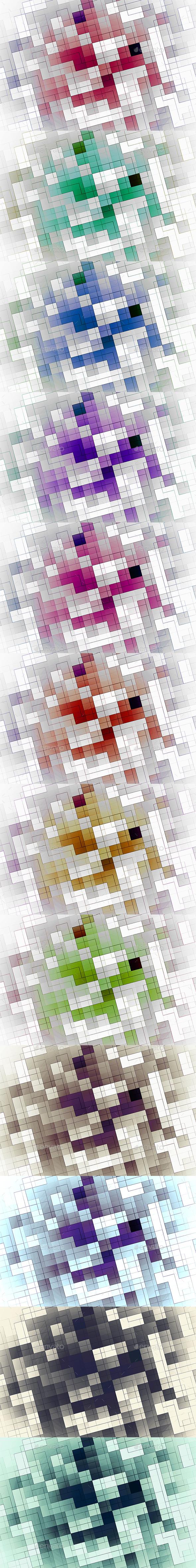 Digital Pixel Backgrounds Vol2 - Patterns Backgrounds