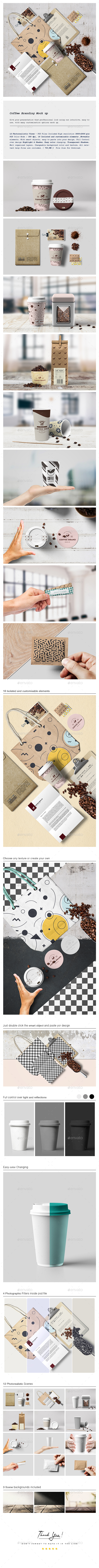 Coffee Branding Mock up - Stationery Print