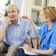 Community Nurse Visits Senior Man Suffering With Depression - PhotoDune Item for Sale