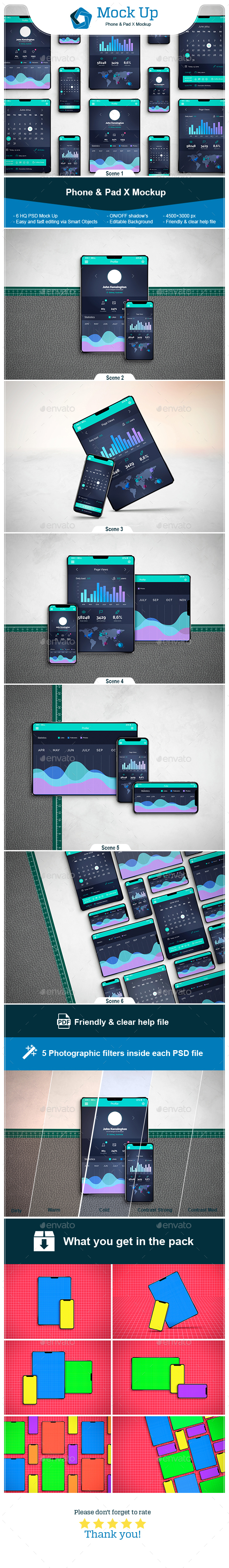 Phone & Pad X Mockup - Miscellaneous Print