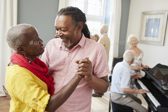 Group Of Seniors Enjoying Dancing Club Together - Stock Photo - Images