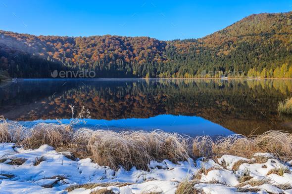 Saint Anna Lake, Romania - Stock Photo - Images