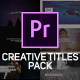 Creative Titles & Lower Thirds for Premiere Pro - VideoHive Item for Sale