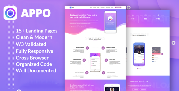 Appo App Landing Page
