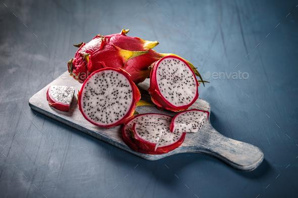 Pitahaya or dragon fruit - Stock Photo - Images