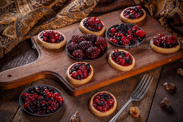 Shortcake pies - Stock Photo - Images
