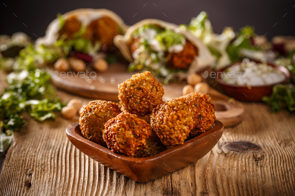 Fresh chickpeas falafel - Stock Photo - Images