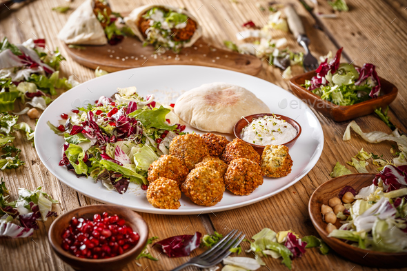 Vegetarian falafels - Stock Photo - Images