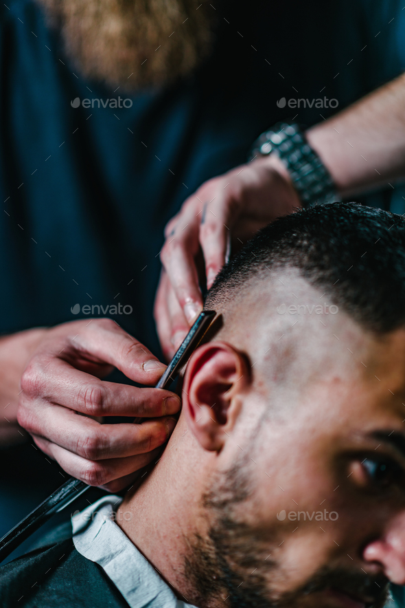 Hair styling for men - Stock Photo - Images