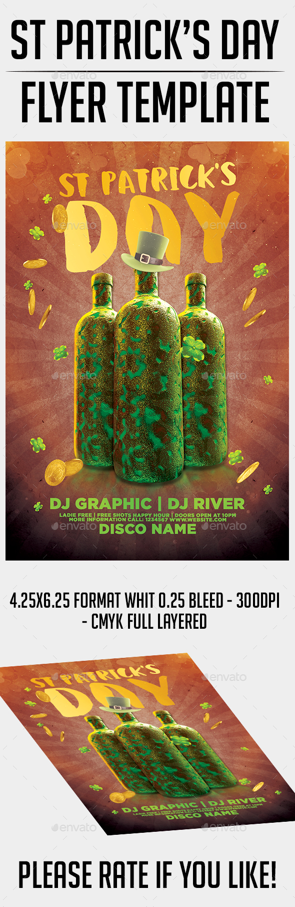 St Patrick's Day Flyer Template - Events Flyers