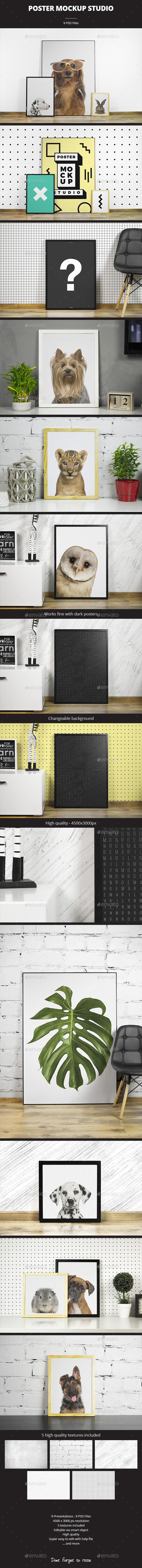 Poster Mockup Studio - Print Product Mock-Ups