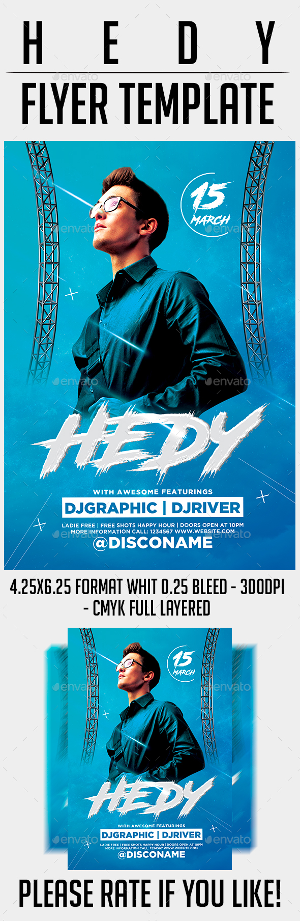 Hedy Flyer Template - Events Flyers