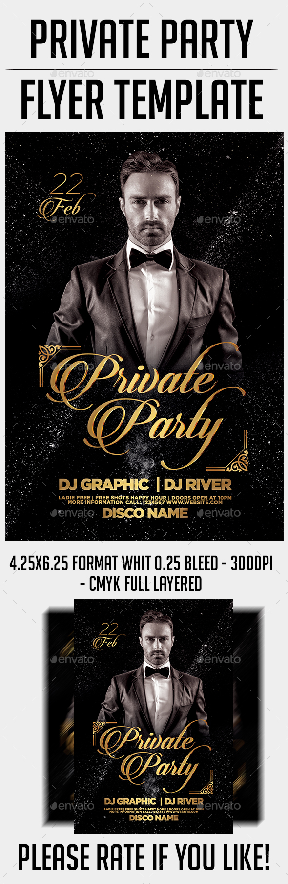 Private Party Flyer Template - Events Flyers