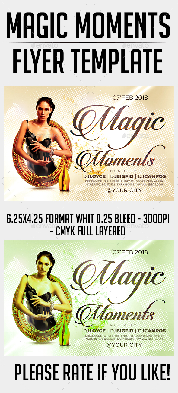 Magic Moments Flyer Template - Events Flyers