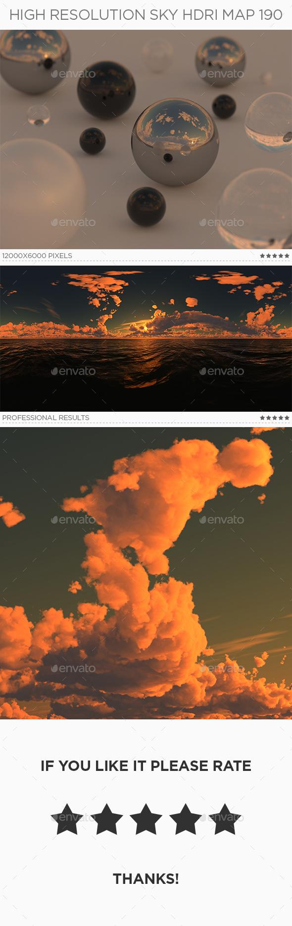 High Resolution Sky HDRi Map 190 - 3DOcean Item for Sale