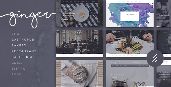 Ginger: A Modern Multi-Purpose Restaurant WordPress Theme - Restaurants & Cafes Entertainment