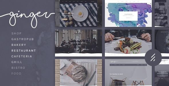 Image of Ginger: A Modern Multi-Purpose Restaurant WordPress Theme