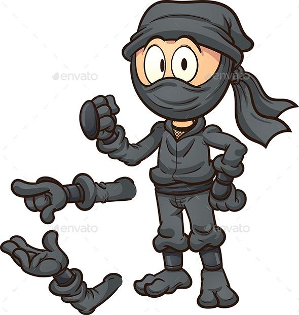 Cartoon Ninja - People Characters