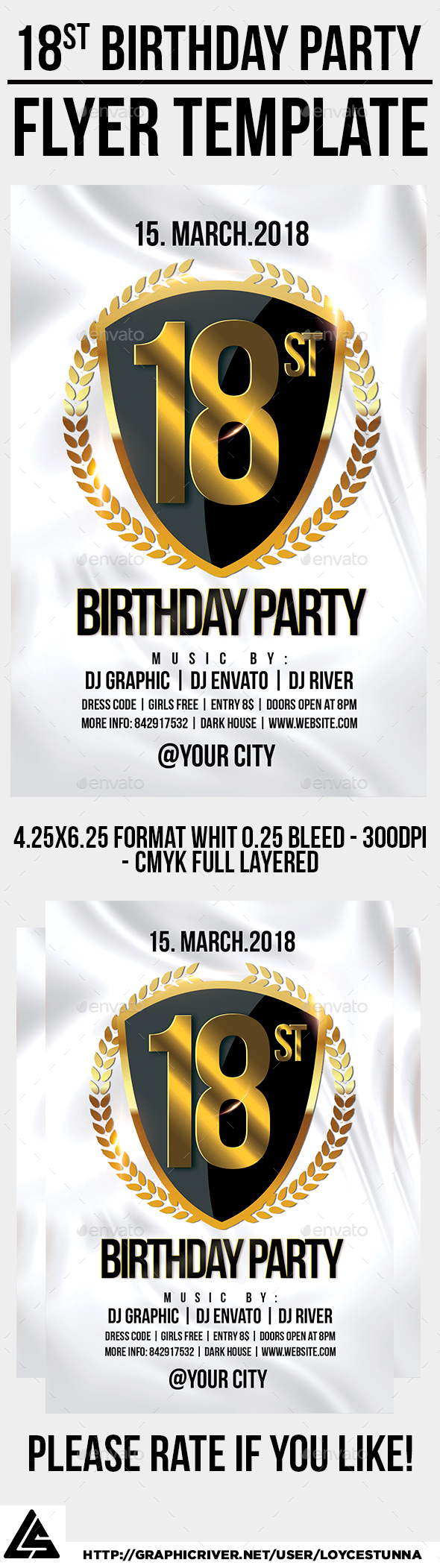 18st Birthday Party Flyer Template - Events Flyers