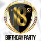 18st Birthday Party Flyer Template - GraphicRiver Item for Sale