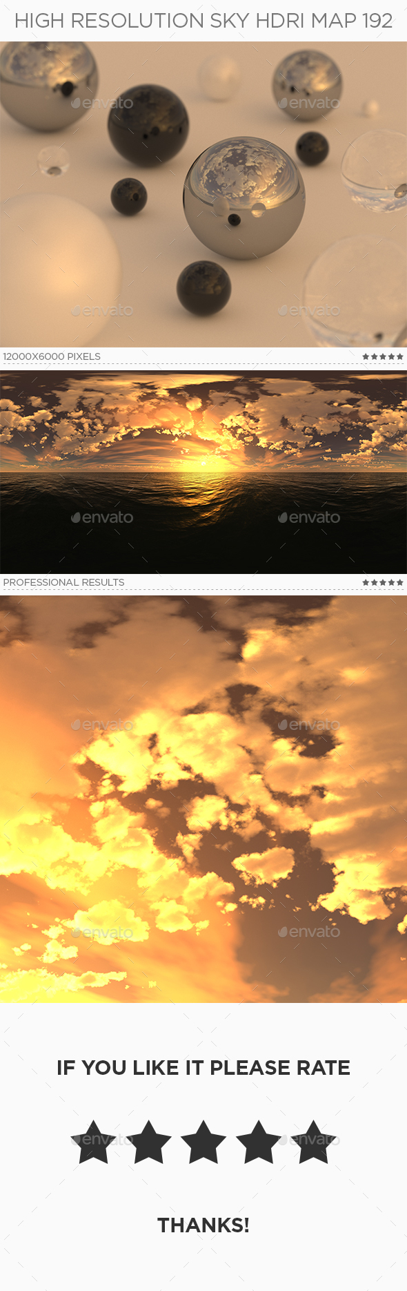 High Resolution Sky HDRi Map 192 - 3DOcean Item for Sale