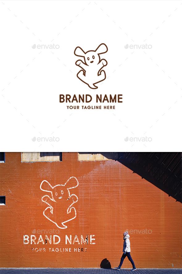 Jumping Puppy - Animals Logo Templates