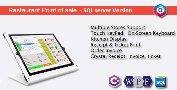 Restaurant Point of Sale - Rest POS - C# WPF SQL - CodeCanyon Item for Sale
