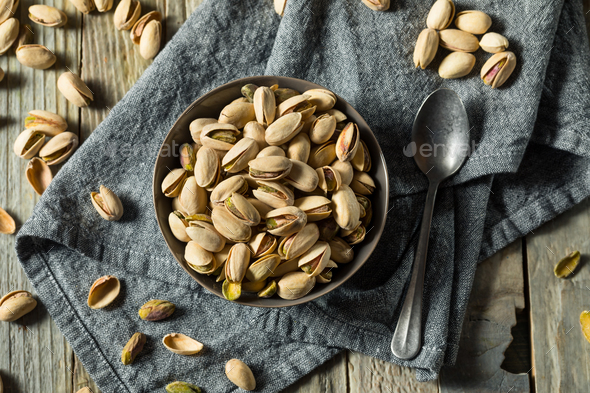 Roasted and Slated Pistachio Nuts - Stock Photo - Images