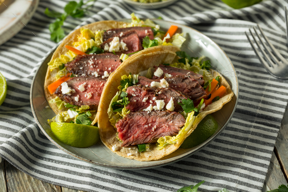 Homemade Korean Steak Tacos - Stock Photo - Images