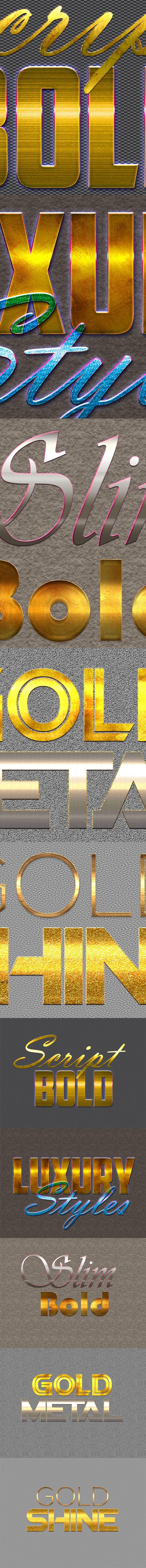 10 3D Text Styles D_63 - Styles Photoshop