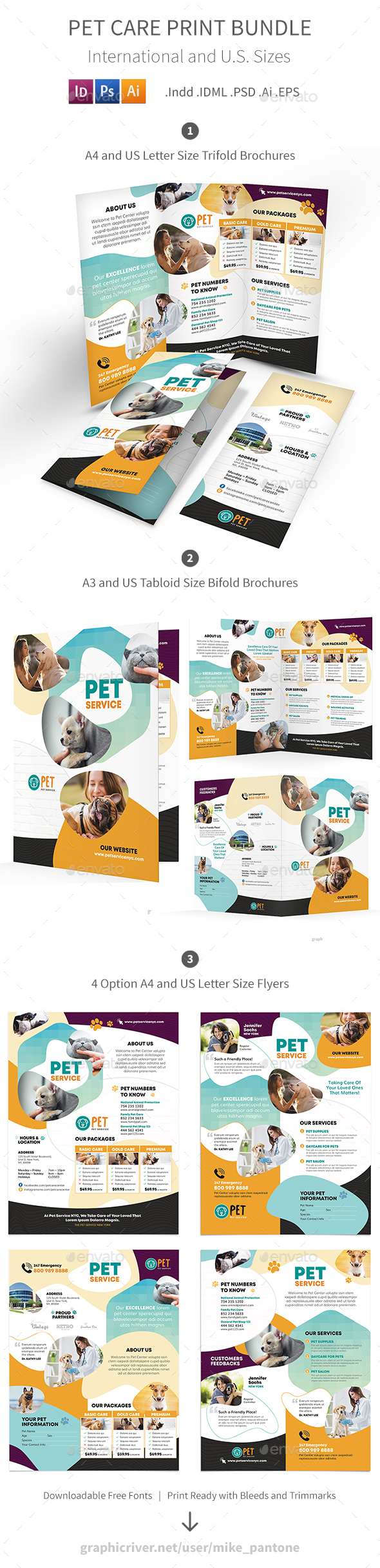 Pet Care Print Bundle 7 - Informational Brochures