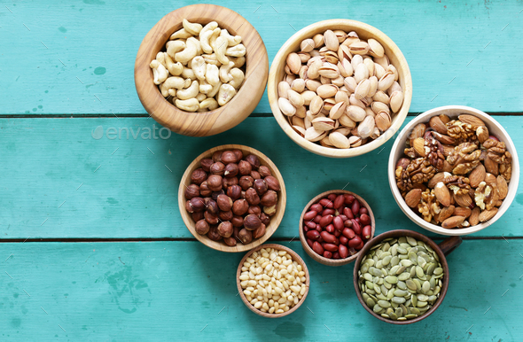 Nuts Mix  - Stock Photo - Images
