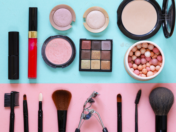 Makeup Cosmetics - Stock Photo - Images