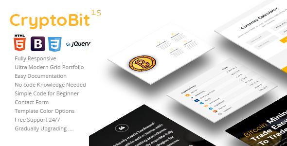 Cryptobit Bitcoin Landing Template