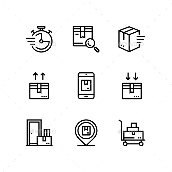 Delivery, Shipment, Cargo Icons for Web and Mobile Design Pack 3 - Business Icons