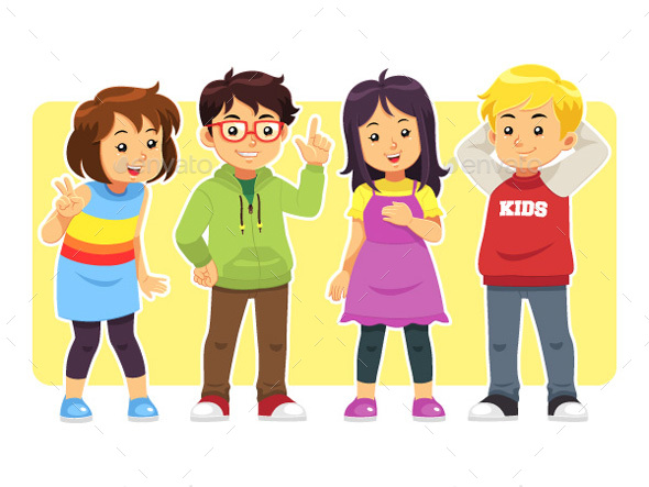 Casual Kids - People Characters