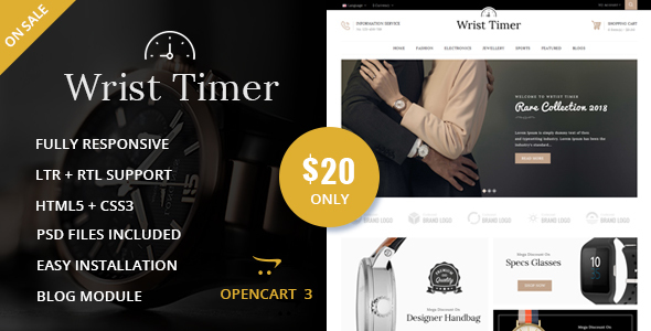 Image of Wrist Timer - OpenCart Responsive Theme
