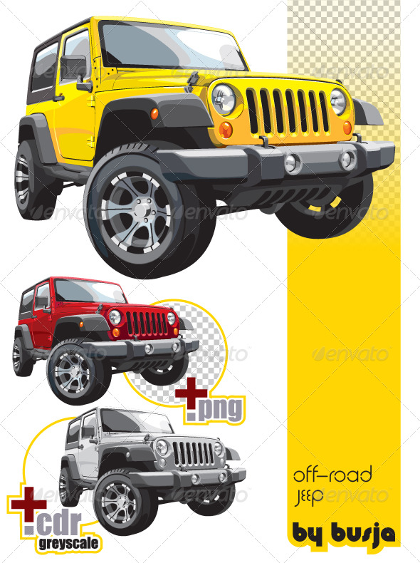 Off-road jeep  - Objects Vectors
