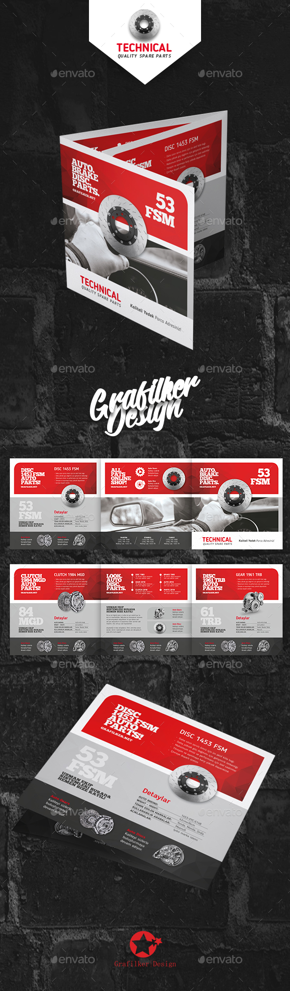 Technical Data Square Brochure Templates - Corporate Brochures