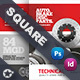Technical Data Square Brochure Templates - GraphicRiver Item for Sale