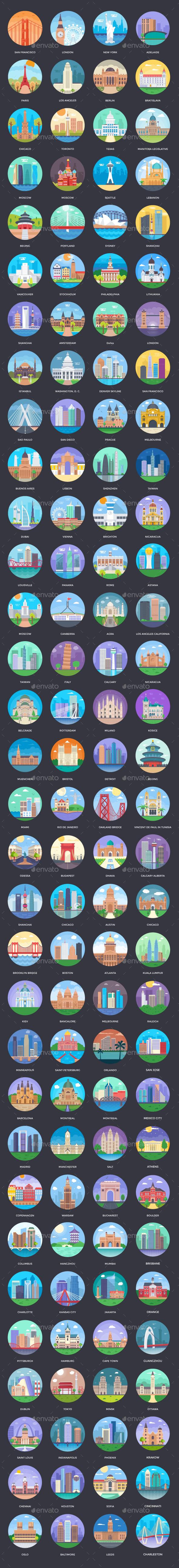 125+ World Cities Illustrations - Vectors