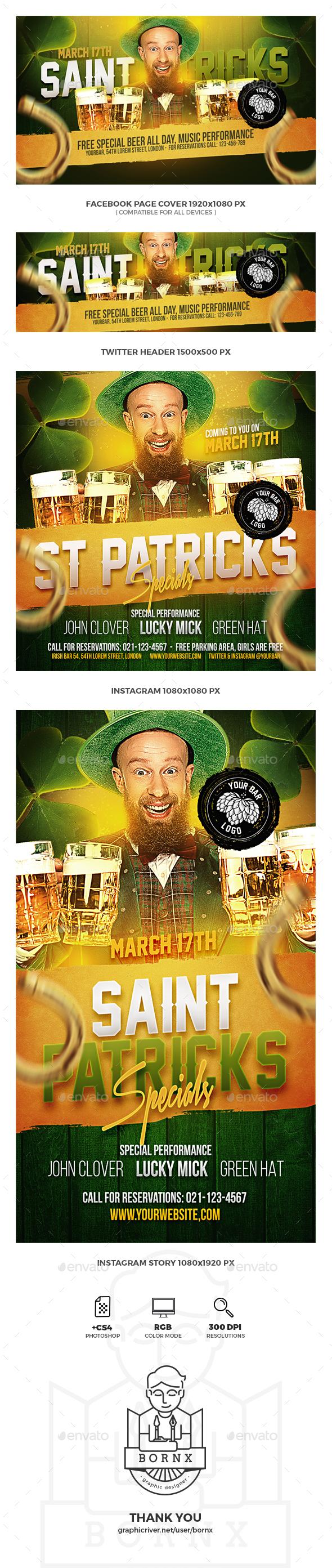 St. Patrick's Day Social Media - Social Media Web Elements