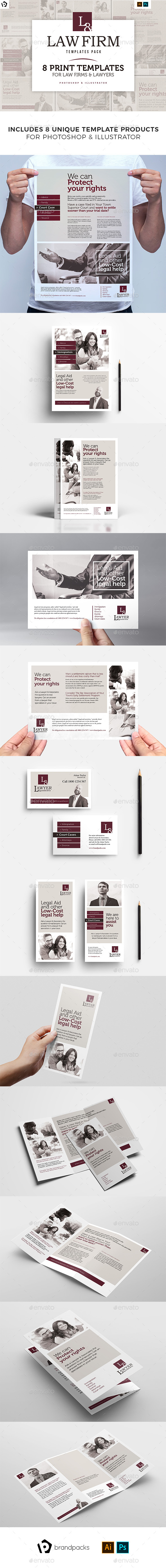 Law Firm Templates Bundle by BrandPacks | GraphicRiver