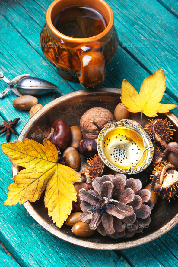 autumnal tea - Stock Photo - Images