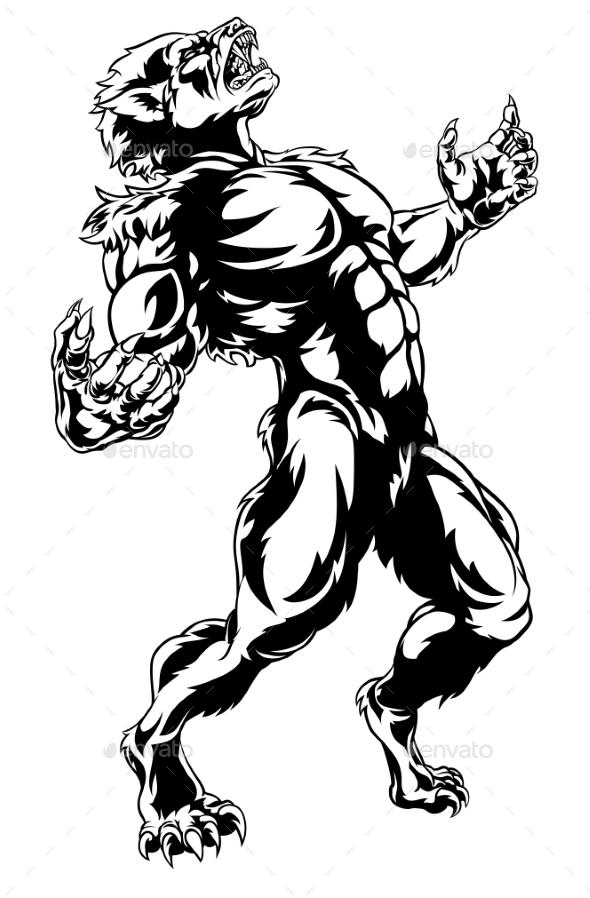 Werewolf Horror Monster - Halloween Seasons/Holidays