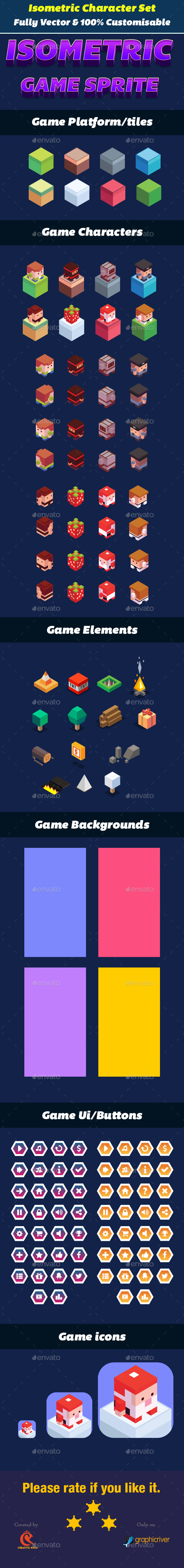 Isometric Game Character UI - Game Kits Game Assets