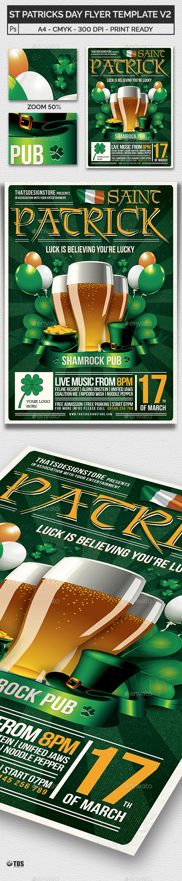 Saint Patricks Day Flyer Template V2 - Holidays Events