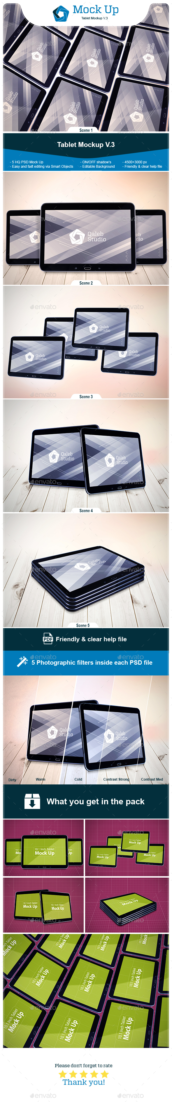 Tablet Mockup V.3 - Miscellaneous Print