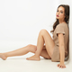 fashion portrait sexy young woman beige dress - PhotoDune Item for Sale