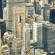 Retro toned aerial picture of the New York City. - PhotoDune Item for Sale